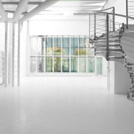 Glazed space in Navigli district