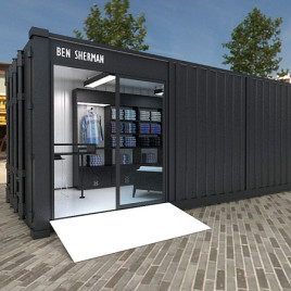 Container shop per Temporary a Milano